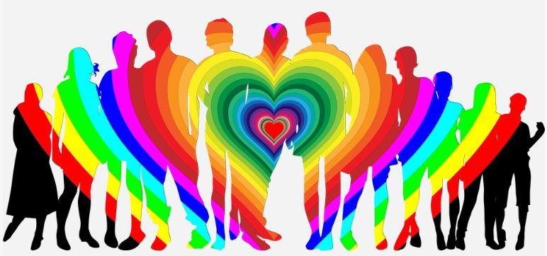 rainbow colors of people images