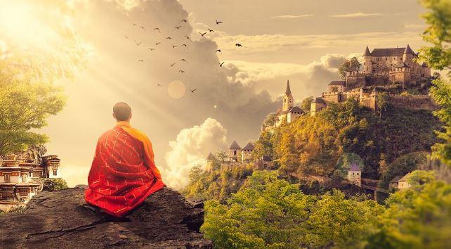 meditating monk, kriya yoga techniques