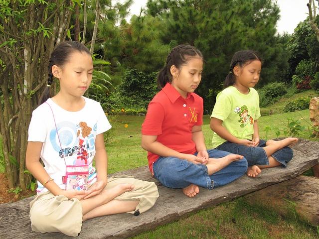 children crossed legs meditation bench meditation chairs