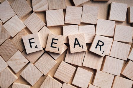 fear written with scrabble letters