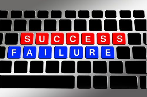 failure success writen with scrabble letters