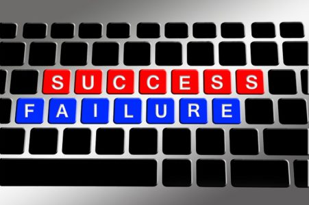 failure success written with scrabble letters making your business