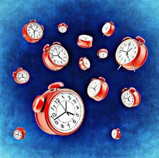 clocks falling down time is your success