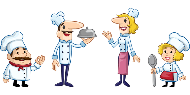 cartoons of male and female chefs how to become a chef